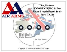 4 x Air Arms TX200/TX200HC and Pro-Sport Breech Barrel Seal - Part: TX221