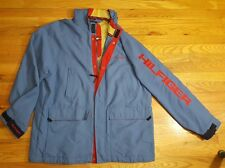 MENS TOMMY HILFIGER JACKET SIZE XXL VINTAGE COLOR BLOCK SPELL OUT SPELLOUT COAT