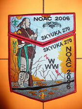 OA Skyuka Lodge 270,2006 NOAC,Indian W/ Rifle 2 Part Set,RED,Palmetto Council,SC