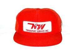 Vintage Nw North West Transport Service Inc Trucker Hat Cap Snapback Usa made