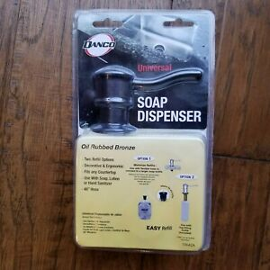 DANCO Universal Built-In Soap Dispenser Oil Rubbed Bronze Sanitizer Lotion 10042