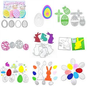 Assorted Easter Egg Rabbit Cross Metal Cutting Dies Diy Scrapbooking Card Making
