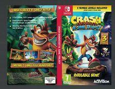switch Nintendo official promo sleeve NO GAME Crash Bandicoot N Sane trilogy