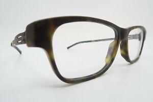ic! berlin eyeglasses mod S7 Ostkreuz size 51-16 Chocolate made in Germany NOS