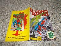 L'UOMO RAGNO N.62 CORNO 1972 ORIGINALE NO RESA OTTIMO tipo DEVIL THOR F4 HULK