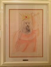 Salvador Dali King David Lithograf On Arches Paper Signe By Dali Sertificate