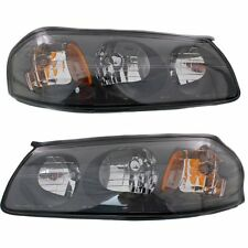 00-04 Chevy Chevrolet Impala Headlights Headlamps Pair Set Left Lh & Right Rh