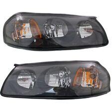 00-04 Chevy Chevrolet Impala Headlights Headlamps Pair Set Left Lh & Right Rh