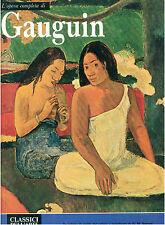 GAUGUIN L'OPERA COMPLETA RIZZOLI 1972 CLASSICI DELL'ARTE 61