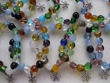 Wholesale 10 perle de verre Bracelets avec Frozen Snowflake Charm. Disney Inspiré