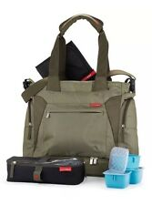 SKIP HOP OLIVE GREEN BENTO MEAL TO GO LARGE DIAPER BAG TOTE Brand New