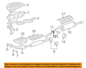 TOYOTA OEM Exhaust-Muffler & Pipe Clamp 9046115013