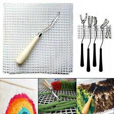 Latch Hook Rug Making Material Tools Diy Hooking Knitting Blank Canvas Mesh 50Cm