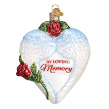 """""""In Loving Memory"""" (30050)X Old World Christmas Glass Ornament"""