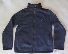 Nautica Boys' Full-Zip Fleece Sport Navy Jacket - MEDIUM (10/12) - NWT