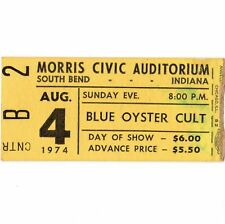 KISS & BLUE OYSTER CULT Concert Ticket Stub SOUTH BEND IN 8/4/74 FIRST TOUR Rare