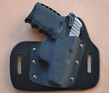 leather/kydex hybrid OWB beltslide holster for SCCY CPX-1, CPX-2 9mm