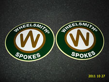 2 AUTHENTIC WHEELSMITH SPOKES STICKERS / DECALS / WHEEL SMITH AUFKLEBER