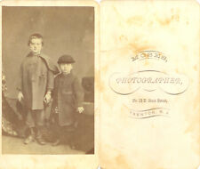 GREAT CLOTHING - CUTE BROTHERS HOLDING HANDS - CDV