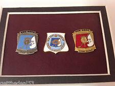 Framed - Bob Hope Desert Classic & Chrysler Classic 3 pc medallion collector set