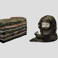"Tactical Mesh Scarf Wrap Mask Shemagh Sniper Veil 72""x33"" Camo Black Khaki OD"
