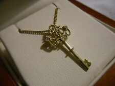 Clogau 9ct Welsh Gold Diamond Kensington Key Pendant RRP £790.00