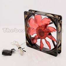 120mm Acrylic Cooling CPU Fan Red LED Bat Leaf For Computer/PC Water Cooling
