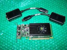 Nvidia NVS 310 512MB PCI Express x16 LP Dual Monitor Card + Adapter Cables