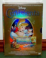 COLECCION ESPECIAL LA CENICIENTA 3 DVD DISNEY NUEVO PRECINTADO (SIN ABRIR) R2