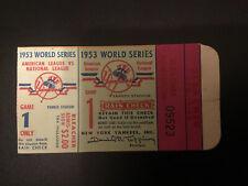 1953 World Series Ticket Brooklyn Dodgers vs Yankees G1 Mantle Snider Campenella