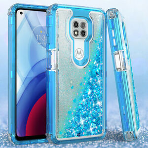 For Motorola Moto G Power /G Stylus /G Play 2021 Clear Case Liquid Glitter Cover