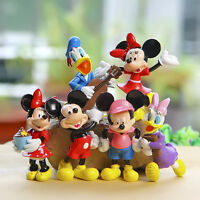cute mickey minnie music anime figure figures Set of 6pcs doll anime collect