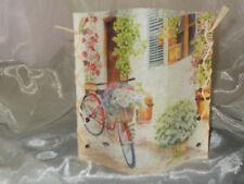 Deko Windlicht Haus Fahrrad Blumen Frühling Tischlicht Unikat Geschenkidee