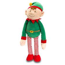Noël grosses elf on the shelf 12cm jouet doux velcro suspension 25cm long vert