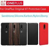 Original Official Oneplus 6T Case Cover Silicone Sandstone Nylon Karbon Bumper