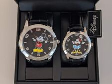 New Authentic Disney Mickey and Minnie Mouse His Hers Boxed Watch Set with Tags