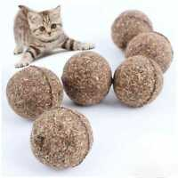 5x Cute Healthy Pet Toys Natural Catnip Funny Play Treats Toy Ball for Cats