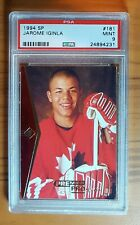 1994-95 JEROME IGINLA UPPER DECK SP ROOKIE CARD GRADED PSA 9 RC