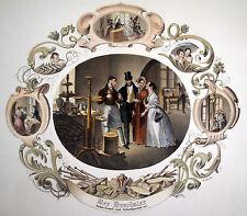 Drechsler Berufsdarstellung prachtvolle kolorierte Lithographie 1840 Original