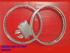 HONDA SPORTS TWIN CB125 CB175 FRONT & REAR WHEEL RIM + SPOKE SET  [mi4893]