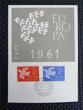 GREECE MK 1961 EUROPA CEPT MAXIMUMKARTE CARTE MAXIMUM CARD MC CM c4191