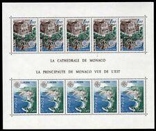 Monaco Scott #1114a VF MNH 1978 Europa - Architecture Mini-Sheet of 10