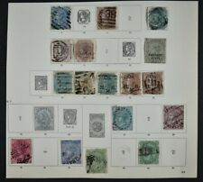 INDIA, a collection of stamps on 7 album pages, mainly used condition.