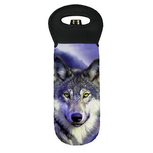Grey wolf face cooler carry bag brand new great gift idea