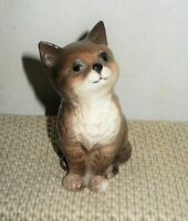 "Beswick Ceramic Porcelain Sitting Cat 4""H - Made in England - Original Label"