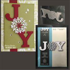 Snowflake Joy metal die - Memory Box cutting dies 99596 Christmas,words holidays