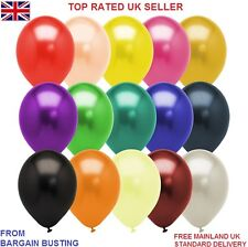 GREAT QUALITY AND VALUE PACK OF 50 ASSORTED METALLIC COLOURED BALLOONS UK SELLER
