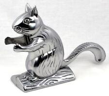 Polished Cast Aluminum Squirrel Nutcracker, Vintage Desk Shelf Decor