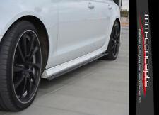 CUP Seitenschweller Ansätze SCHWARZ für Audi A6 C7 4G S-Line Side Skirts Leisten