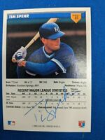 MONTREAL EXPOS AUTOGRAPHED BASEBALL CARD TIM SPEHR
